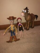 Original Pixar Woody Doll Toy Story With Hat Bundle With Jessie And Bullseye