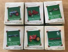 Lot Of 6 Hallmark Ornament Keepsake Miniature Collector's Series Tractors Trains