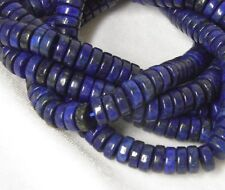 "8x3mm Lapis Lazuri Heishi Beads 15"" Strand"