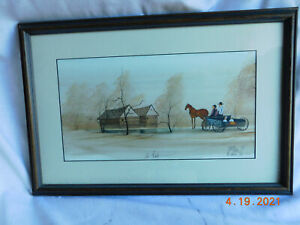 """P. Buckley Moss """" At Rest """" Amish Family  Numbered Unframed Rare Limited Edition"""