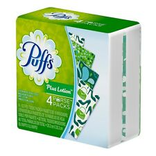Puffs Plus Lotion To-Go Facial Tissues 4 ea