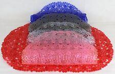 DOCCIA TAPPETINO Cristallo Rosa Forma Ovale Nuovo PVC antiscivolo