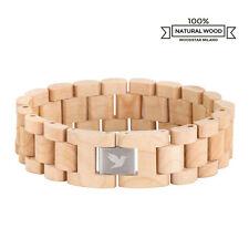Woodstar® WHITE CROCODILE | Bracciale in legno di Acero | Bianco | Uomo Donna