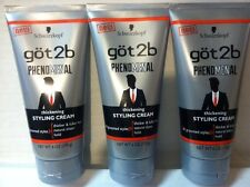 Lot of 3 Schwarzkopf Got2b Phenomenal Thickening Styling Cream 6 oz Free Ship