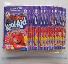 20 packets of KOOL-AID drink mix: BERRY CHERRY flavor, powdered, UNSWEETENED