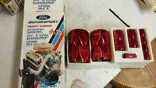 FORD MOTORSPORT HOSE CLAMP COVER KIT 12 CLAMPS RED