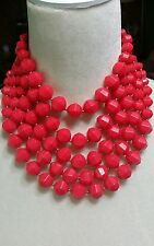 """KATE SPADE ♤ NEW YORK """"CUT TO THE CHASE"""" MULTI-STRAND NECKLACE. HOT PINK"""