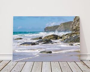 watergate bay cornwall canvas print framed picture wall art Newquay various size
