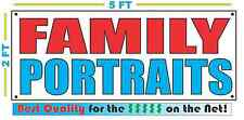 FAMILY PORTRAITS Banner Sign NEW Larger Size Best Quality 4 the $ Money