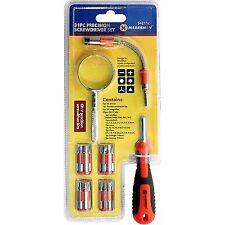 Marksman 31pc Precision Screwdriver Set With Magnifying Glass Repair Tool Kit