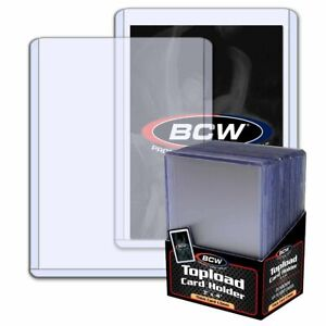 BCW CARD 3X4 X 1.5 MM 59PT TOP LOAD TOPLOADERS 25 PER PACK 59 POINT