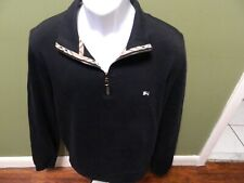 Burberry London Quarter Zip BLACK  Sweater Size MEDIUM  Men's