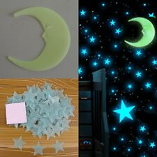 #2 1Pcs Moon 3D DIY PVC Glow in the Dark Home Bedroom Wall Art Stickers Decor