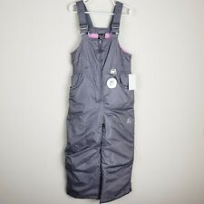 ZeroXposur Girls 4 5 Gray Snow Bib Overalls Ski Suspenders Pants