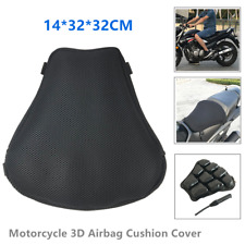 1*Motorcycle Inflatable Seat Cushion Cover 3D Mesh Cloth Non-slip Seat Mat Soft