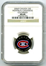 2006 P CANADA 25 CENT NGC MS68 MONTREAL CANADIENS QUARTER RARE <10,000 TOP POP11