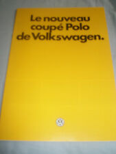 VW Polo Coupe brochure Oct 1982 French text