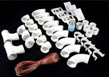 Deluxe Central Vacuum 3 INLET INSTALL KIT w/White Round Door Valves