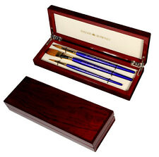 Daler Rowney Artists Sapphire Watercolour Paint Brush Set Luxury Wooden Gift Box