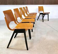 Set of 6 Model P7 Dining Chairs by ROLAND RAINER for Emil & Alfred Pollak 1950s
