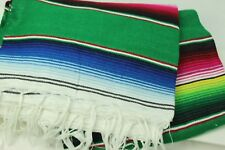 24x56 Mexican Serape Blanket Authentic Sarape Saltilo Southwestern Fiesta Party