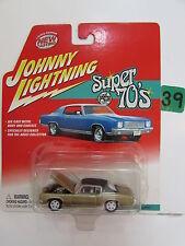 JOHNNY LIGHTNING SUPER 70'S  '71 PONTIAC GRAND PRIX  WHITE LIGHTNING