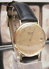 CHOPARD VINTAGE 60'S RARE SOLID 18K GOLD DATE MICRO ROTOR  AUTO WATCH SERVICED
