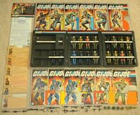 Lot Complete 1982 GI Joe Straight Arm v1 Figure Accessories & File Card Back Set