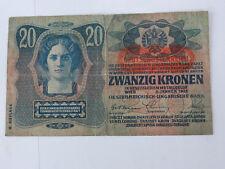 Geldschein Österreich - Ungarische Bank Zwanzig Kronen 2. Jänner 1913