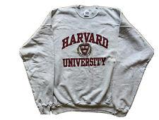 Harvard University Crimson Crest Spellout Cotton Blend Sweatshirt 2XL