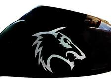 Tribal Wolf Wing Mirror Car Stickers, Chrome