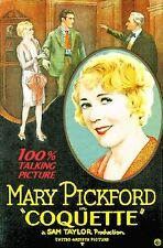 COQUETTE DVD FILM 1929 MARY PICKFORD