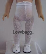 White Lattice Diamond Pattern Tights for 14 - 18 inch Doll Clothes American Girl