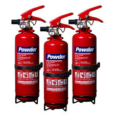 NEW 3 X 1 KG DRY POWDER FIRE EXTINGUISHER FOR HOME/OFFICE/CAR/BOAT DP1E