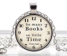 Libro Collar Frank Zappa citar Colgante alfabetización profesor bibliotecario Joyas Regalo