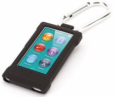 Outdoor Sports Soft Silicone Carabiner Case For iPod Nano7 Belt Clip With A Hook