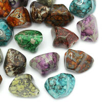 20 Mix Acryl Spacer Perlen Beads unregelmäßig Mehrfarbig 24x16mm