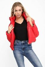 Womens Cropped Jacket Puffa Puffer Padded Quilted Warm Winter Coat Fashion Top