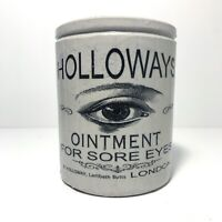 Holloways Eye Ointment Pot Victorian Jar Marmalade & Optician Spectacles London