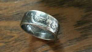 Walking Liberty Half Dollar Coin Ring High Quality 90% Silver U Pick Size 10-13