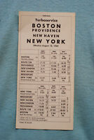 Penn Central Turboservice - Time Table - Fares