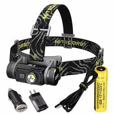 Nitecore HC60 1000 Lumen USB Rechargeable LED Headlamp w/ 3400 mAh 18650 Battery