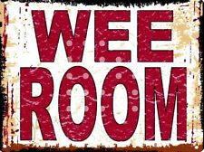 WEE ROOM METAL SIGN RETRO VINTAGE STYLE SMALL toilet humour tin wall sign