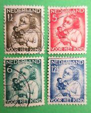 Nederland NVPH 270 t/m 273 Kinderzegels 1934 gestempeld