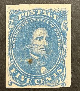 TDStamps: US Confederate States CSA Stamps Scott#4 Unused NG Spot Tiny Tear