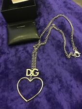 DOLCE & GABBANA Silver Chain Cast Pendant Heart Necklace Gorgeous