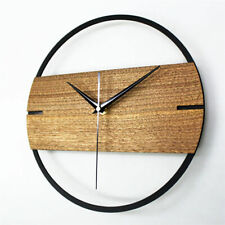 Wall Clock Simple Modern Wooden Watch for Bedroom 3D Sticker Wood Wall Clocks