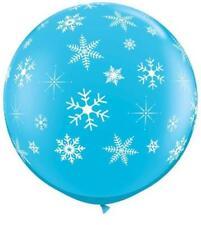 Globos de fiesta color principal azul de Navidad