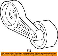 FORD OEM 03-07 F-350 Super Duty-Serpentine Fan Belt Tensioner 3C2Z6B209AA