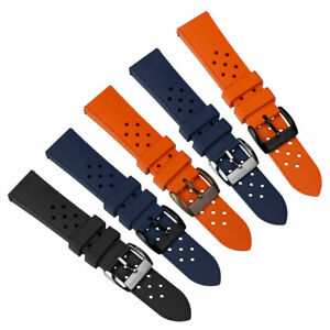 ZULUDIVER Modern Tropical Style Rubber Watch Strap Buckle/Tips 0.9mm or 1.1mm